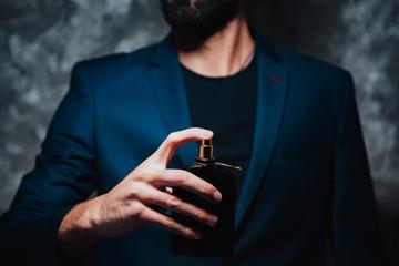 man hand perfume