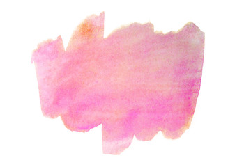 pink abstract watercolor stain