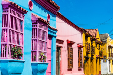 Fototapete - Colorful streets of Getsemani