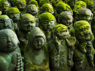 Foto op Canvas Japan Buddhistische Statuen in Arashiyama, Kyoto, Japan