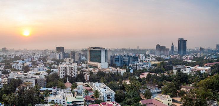 City skyline, Bangalore (Bangaluru), capital of the state of Karnataka