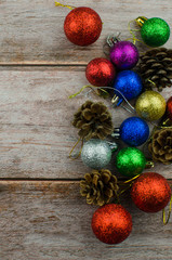 Christmas background new year winter tree gifts nuts bumps
