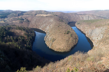 View of the meanders of Vltava river
