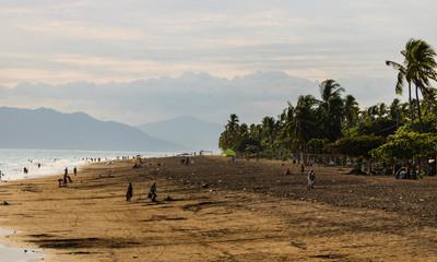Puntarenas, Costa Rica - 2018. Local beach, locals on the beach in Puntarenas, Costa Rica.