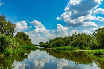 Flusslandschaft in Mecklenburg-Vorpommern Malchin Peenekanal Westpeene