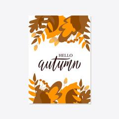 Trendy and elegant autumn background