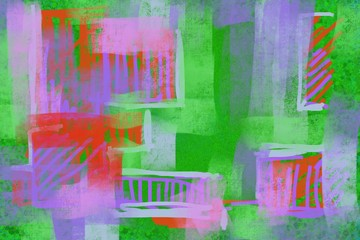 Abstract grid geometric boxes rectangles landscape of imaginary city scape  or shapes background