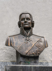 Bust of russian admiral Ushakov