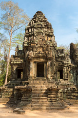 Restored Chau Say Tevoda temple near Angkor Wat, Cambodia