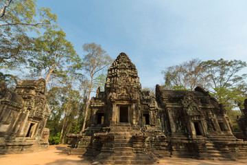Restored Chau Say Tevoda temple near Angkor Wat, Cambodia