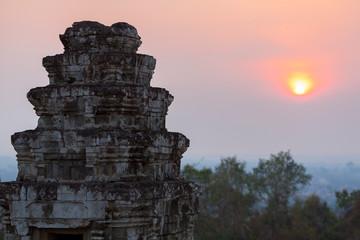 Phnom bakheng Temple in Angkor. Siem reap, UNESCO site Cambodia.