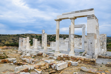 6th-century BC Temple of Demeter near Sangri, Naxos Island, Greece