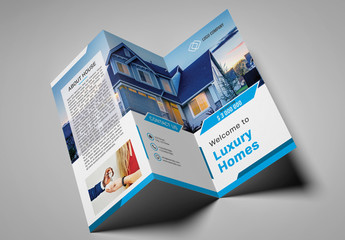 Real Estate Trifold Brochure Layout