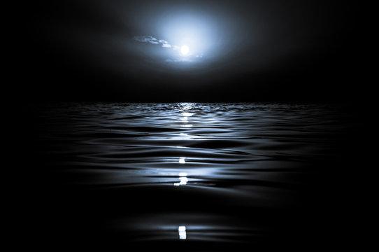 moon over the sea