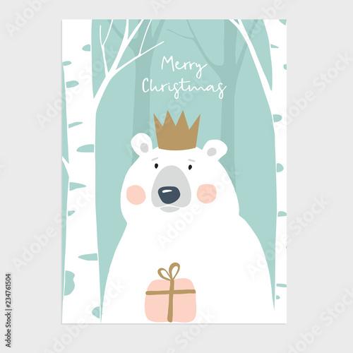 6e853b45d91d9 Cute Merry Christmas greeting card