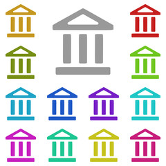 bank icon in multi color. Simple glyph vector of web set for UI and UX, website or mobile application