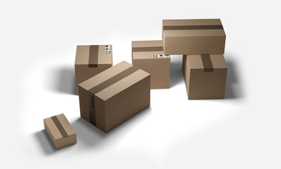 packages delivery 3d-illustration