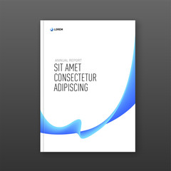 Corporate brochure cover design template for business