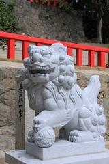 織幡神社の狛犬