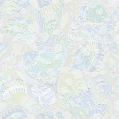 Foto op Aluminium Botanisch Colorful seamless pattern. Hand drawn floral ornament. Colorful decorative wallpaper. Illustration for textile, fabric, cover, print, invitation wrapping paper