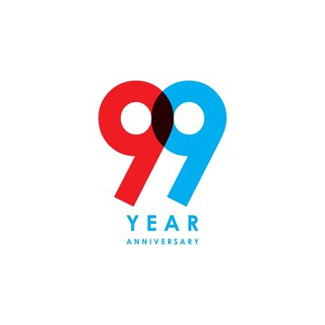 99 Year Anniversary Vector Template Design Illustration
