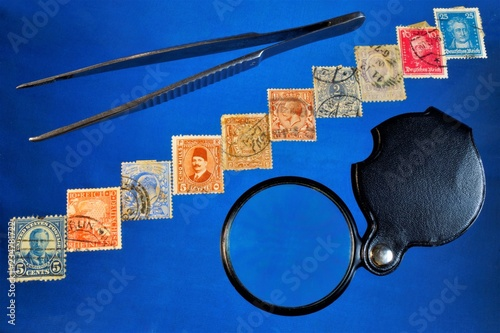 collection and study of postage stamps