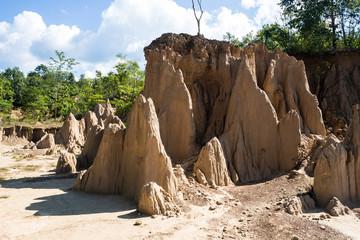 soil textures of Sao Din Nanoy, Nan Province, Thailand