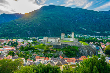 Castelgrande castle in Bellinzona, Switzerland