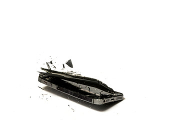 Smart phone fell to shatter