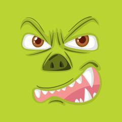 An evil monster face