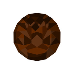 Isolated geometric coconut. Low Poly. Vector illustration design