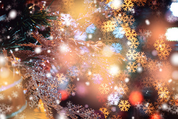 Christmas background with sparkle bokeh light