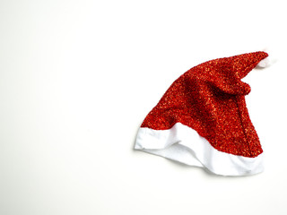 Single Santa Claus red hat on white