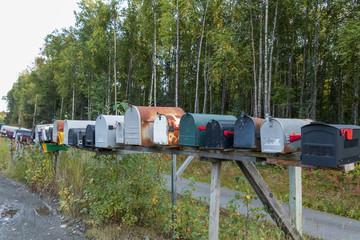 並んだ郵便受け Mailbox that side-by-side