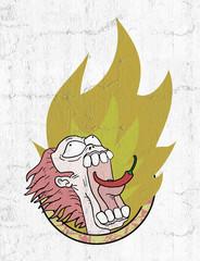 imaginative flame illustration