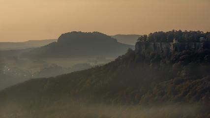 foggy morning on the fortress - Nebliger Morgen auf der Festung