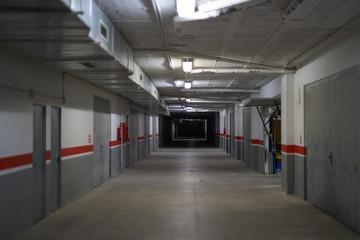 Corridor Of Underground Storage Warehouse And Parking Facility