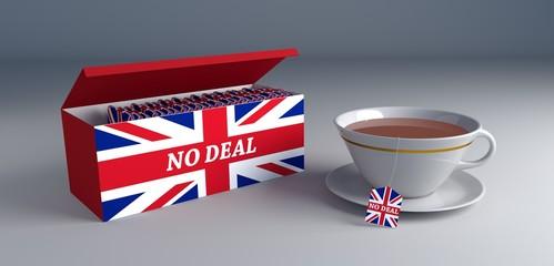 no deal brexit - concept tea