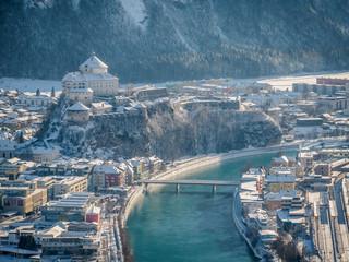 Winter in the city of Kufstein Tirol