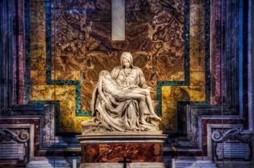 Michelangelo's Pieta at St. Peter's Basilica in the Vatican.