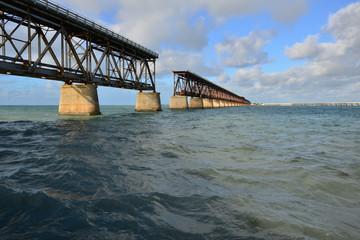 The old railway bridge at Bahia Honda at the Florida keys.