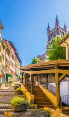 Escaliers du Marche staircase in Lausanne, Switzerland