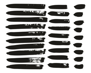 Calligraphy Paint Brush Lines Mix High Detail Abstract Vector Background Set 146