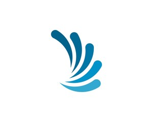 Water splash logo vector icon illustration design