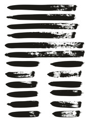 Calligraphy Paint Brush Lines Mix High Detail Abstract Vector Background Set 74