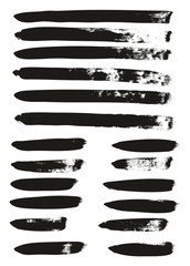 Calligraphy Paint Brush Lines Mix High Detail Abstract Vector Background Set 71