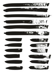 Calligraphy Paint Brush Lines Mix High Detail Abstract Vector Background Set 70