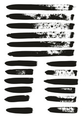 Calligraphy Paint Brush Lines Mix High Detail Abstract Vector Background Set 67