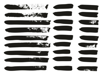 Calligraphy Paint Brush Lines Mix High Detail Abstract Vector Background Set 08