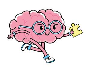 cute brain cartoon